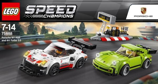 391 Teile Baukästen & Konstruktion LEGO® Speed Champions 75888 Porsche 911 RSR und 911 Turbo 3.0