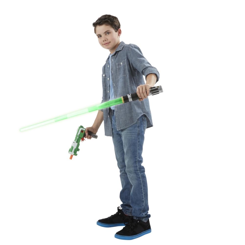 Film- & TV-Spielzeug Hasbro B8264EU4 Star Wars Blaster-power Lichtschwert günstig kaufen
