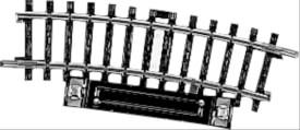 Märklin 2229 H0 Schaltgleis r360 mm,15 Gr.