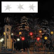 H0 Drei weiß leuchtende Weihnachtssterne