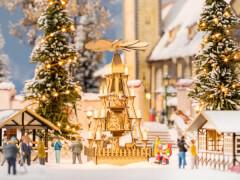 H0 Weihnachtsmarkt-Pyramide