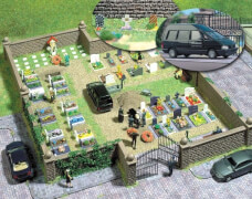 H0 Motiv-Set Friedhof