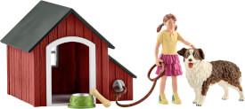 Schleich Farm World Bauernhof - 42376 Hundehütte mit Figuren, ab 3 Jahre