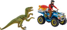 Schleich 41466 Flucht auf Quad vor Velociraptor