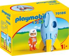 PLAYMOBIL 70186 Astronaut mit Rakete