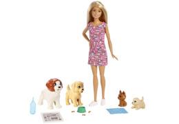 Mattel FXH08 Barbie® Hundesitterin und Welpen
