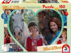 Schmidt Puzzle 56235 Bibi & Tina, Puzzle zum Film 4, Mädchenfreundschaft, 150 Teile, ab 7 Jahre