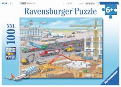 Ravensburger 10624 Puzzle Baustelle am Flughafen 100 Teile
