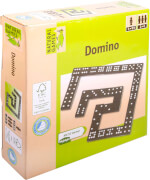 Natural Games Holz Domino, 55 Steine, für 2-6 Spieler, Familienspiel, ab 3 Jahren