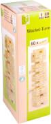 Natural Games Wackel-Turm mit 60 Spielsteinen, Geschicklichkeitsspiel, ca. 32x10x10 cm, ab 1 Spieler, ab 5 Jahren