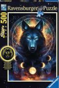 Ravensburger 13970 Puzzle Leuchtender Wolf 500 Teile Starline