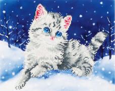 Diamond Dotz Katze im Schnee 35,5 x 27,9 cm