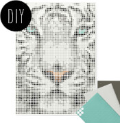 dot on art - DIY-Klebeposter, Bastelset, Stickerset - Motiv:  Tiger, 50x70 cm