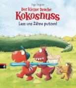 Der kleine Drache Kokosnuss - Lass uns Zähne putzen!, Pappbilderbuch, 12 Seiten, ab 2 Jahren