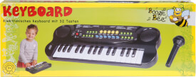Boogie Bee Elektronisches Keyboard mit Mikrofon, Kinderinstrument, ca. 40x15x 5 cm, ab 3 Jahren