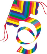 Günther Einleinerdrachen Rainbow, 97x58 cm