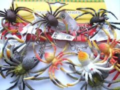Schlüsselanhänger bunte Spinne ca. 7 cm